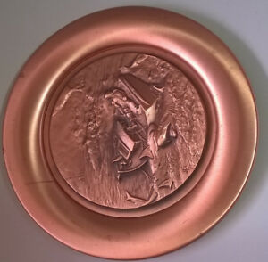 Vintage Winslow Homer Commemorative Copper Collectible Plate