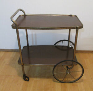 1960's Mid Century Rolling Serving Cart – Cocktail Trolley
