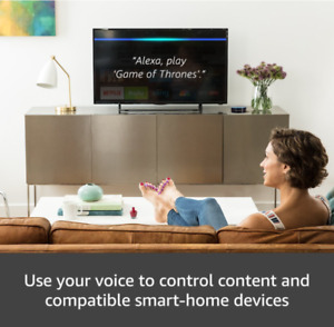 VOICE CONTROL TV HandsFree 4K FIRE TV MEDIA PLAYER and ECHO Dot