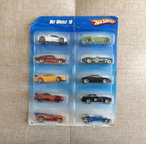 Hot Wheels 10 Diecast Car Set New 2008