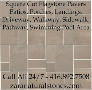 Chocolate Brown Square Cut Flagstone Indian Stone Patio Flagston