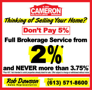 Sell Your House From 2%+HST - Full Service