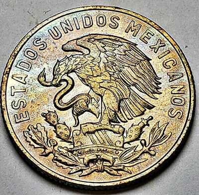 Mexico Bin #3 AU//UNC FREE SHIP Great Coin 1967 MEXICO 50 CENTAVOS