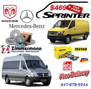 Brake set for Sprinter (Mercedes Benz & Dodge )