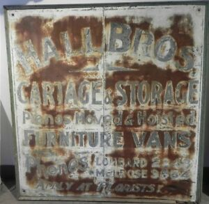 VINTAGE ADVERTISING METAL SIGN TORONTO ONTARIO