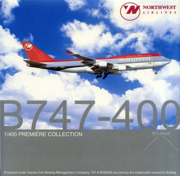 RARE Dragon Wings #55470 NORTHWEST AIRLINES (NWA) Boeing 747-400 1:400 Scale Model Aircraft