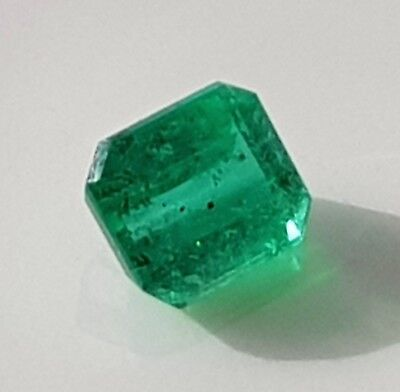 WaterfallGems Emerald 6.3x5.5mm, 1.01ct