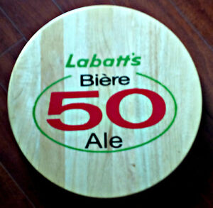 VINTAGE LABATT 50 WOODEN LAZY SUSAN AND MUCH MORE