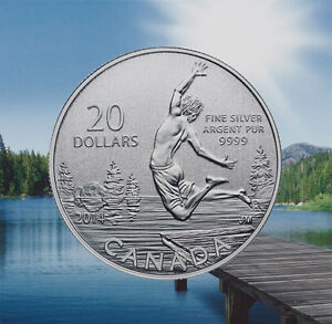 $20 for $20 SUMMERTIME PURE SILVER COIN