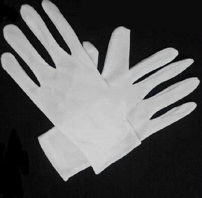 1 Pair Light Cotton Blend New White Micro Dotted Grip Gloves Njplvv