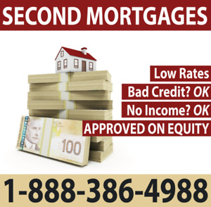 Private 1st & Second Mortgages Up To 90% Loan to Value