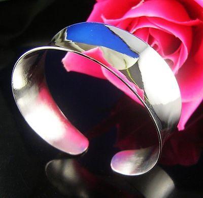 New Women's Fashion Jewelry Silver Plated Cuff Bangle Bracelet 21-8