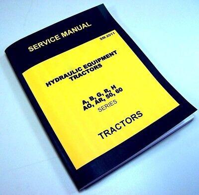 Powr Trol Service Manual For John Deere B Tractor Hydraulic Equipment Repair