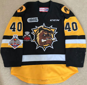Hamilton Bulldogs Game Worn Memorial Cup OHL Championship Jersey