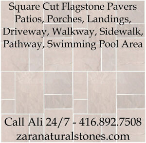 Cream  Square Cut Flagstone Indian Stone Patio Flagstone Sandsto