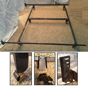 KING Metal Bed Frame / Rails, Interlocks - no tools required!