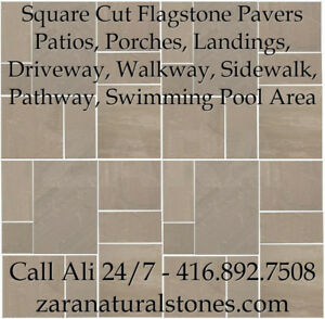 Light Brown Square Cut Flagstone Indian Stone Patio Flagstone Sa