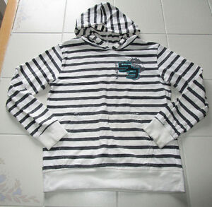 Boys long sleeve hooded shirt in size 10 *never worn
