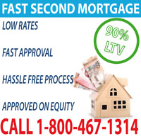 SECOND MORTGAGE APPROVED ON EQUITY NO CREDIT OR INCOME REQUIRED