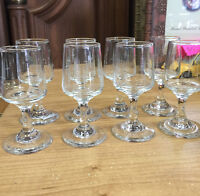 SET OF 8 VINTAGE GLASSES SHOT GLASSES MISSISSAUGA