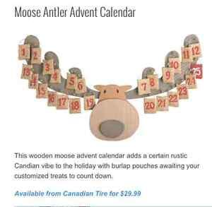 Wooden moose advent calendar - new in box Cambridge Kitchener Area image 2