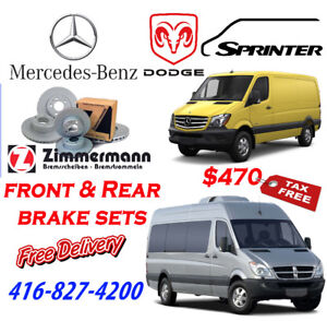 SPRINTER Front & Rear Brake sets -all models  - $470 Tax Free