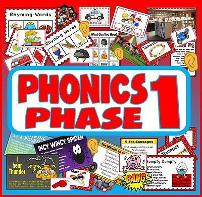 CD PHONICS PHASE 1 TEACHING RESOURCES LETTERS SOUNDS LITERACY ALPHABET EYFS SACK