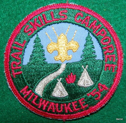 BOY SCOUT PATCH - 1954 TRAIL SKILLS CAMPOREE - MILWAUKEE AREA COUNCIL