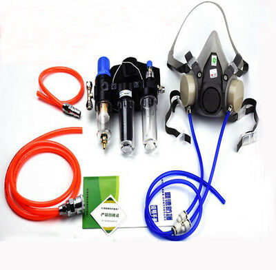 3 In 1 Painting Spray Supplied Air Fed Respirator System 6200 Half Face Gas Mask