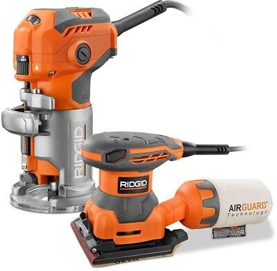 Corded 5.5 Amp Trim Router and 1/4 Sheet Sander Woodworking