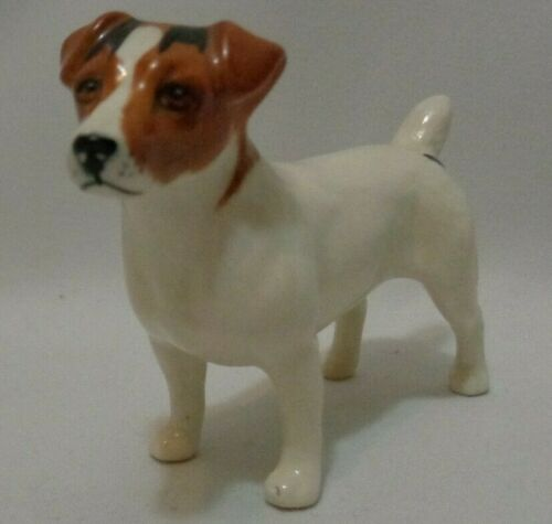 Geniune Beswick England Jack Russell Terrier Dog Porcelain Signed