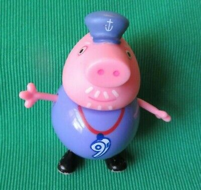 """PEPPA PIG GRANDPA PIG 3"""" figure with sailor hat replacement for doll house"""