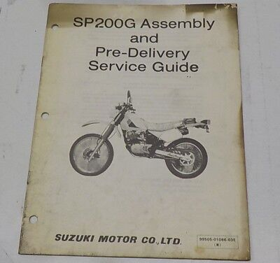 GENUINE SUZUKI SP200G ASSEMBLY AND PRE-DELIVERY SERVICE GUIDE
