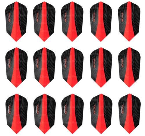 5 Sets Harrows Retina 100 Micron Slim Dart Flights - Ships w/ Tracking - Red