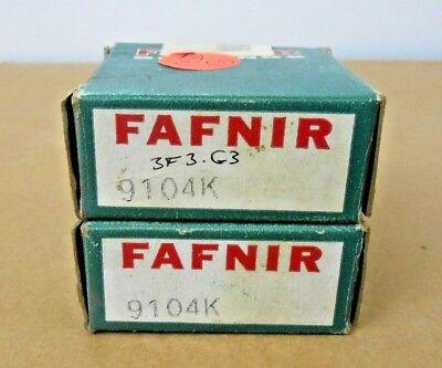 Lot Of 2 Nib Fafnir 9104k 9104-k Ball Bearing Open 20mm X 42mm X 12mm Open