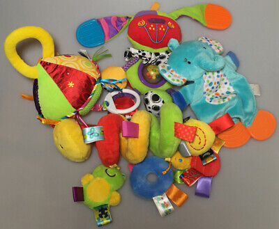LOT Developmental Baby Toy Lamaze Plush Teether Soother Crinkle Taggies Playgro