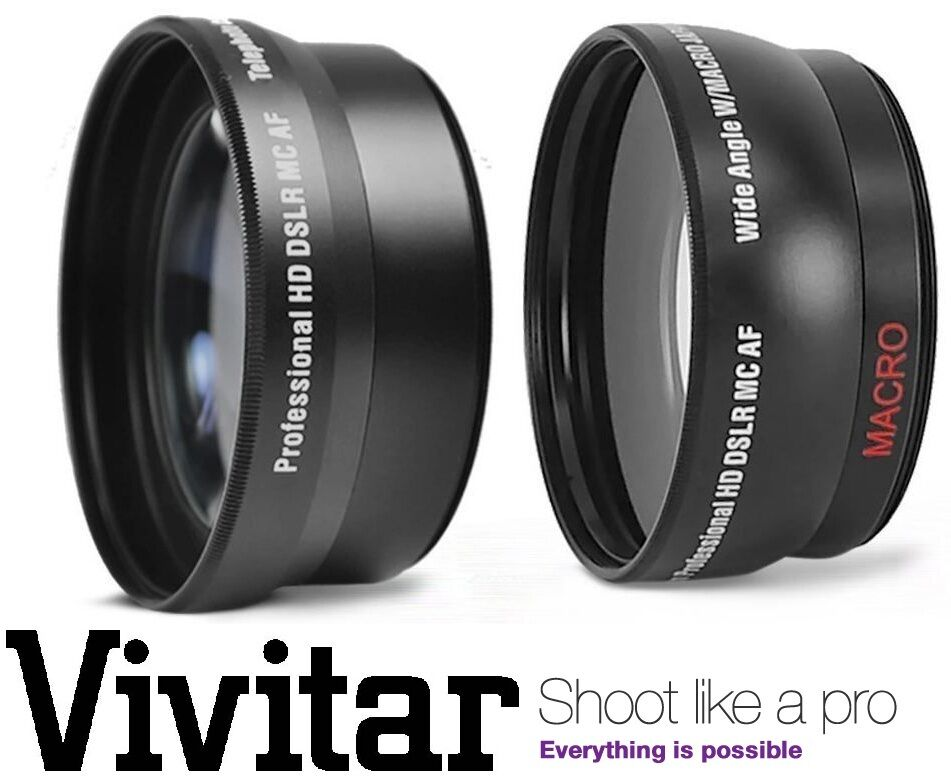 2Pc HD Telephoto Wide Angle Lens Kit For Sony Alpha A6000 ILCE-6000L ILCE-6000 - $17.95