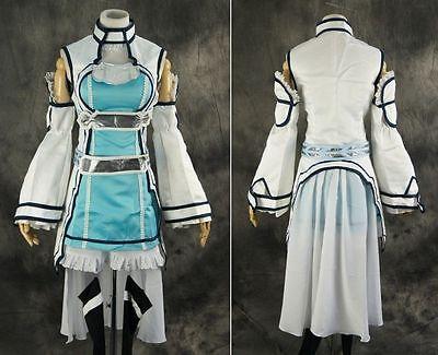 H-052 M/L/XL/XXL Sword Art Online ALfheim Asuna Elf blau Cosplay Kostüm costume ()