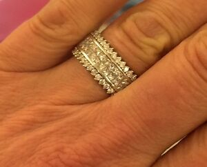 3.9CT 18KT gold wedding engagement anniversary ring$REDUCED OBO!