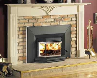 Osburn 1800 Wood Insert Fireplace Medium EPA 65,000 BTU's Bay Window Large View