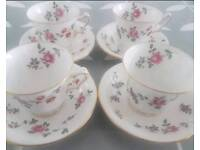 X4 Vintage Tea Cup and Saucers
