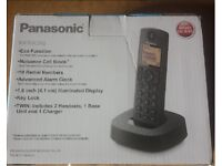 Panasonic KX-TGC312EB Digital Cordless Phone Black, Pack of 2