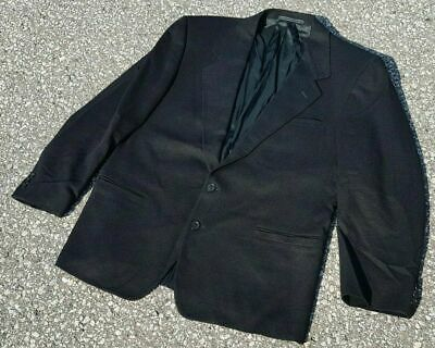 Versace V2 Men's Sport Coat Jacket Vintage Jet Black 2Btn Wool Silk Size 42R