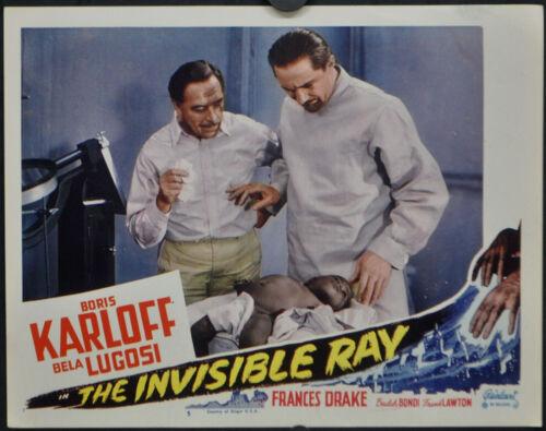 INVISIBLE RAY R1948 ORIGINAL 11X14 MOVIE LOBBY CARD #5 BORIS KARLOFF BELA LUGOSI