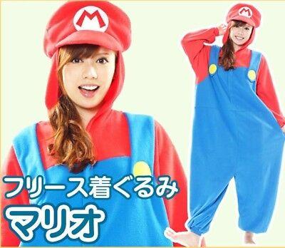 NEW Super Mario Bros Bowser MARIO Fleece Authentic Kigurumi Cosplay Costume