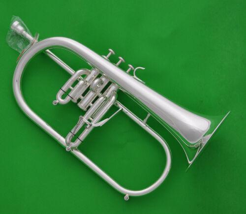 Prof. Flugelhorn Silver Plate Bb Flugel Horn Bell 154mm Ablone withTrigger