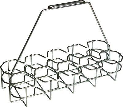 Gläserkorb Glasträger Träger Metalltragekorb für Bierglas 10 Fächer 41x17x29cm