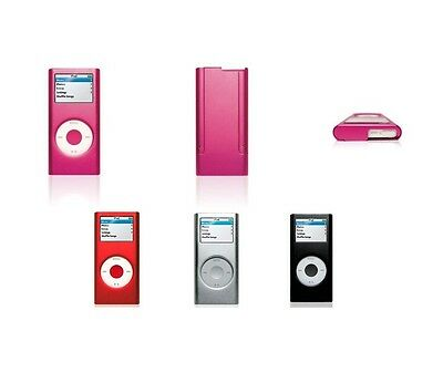 For Apple iPod Nano 2nd Gen Aluminum Metal Hard Case Cover Screen Protector ()