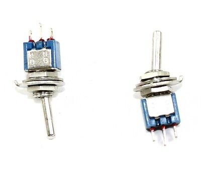 Toggle Spdt Subminiature Switch On-on 125v 3a - Lot Of 5 97b012