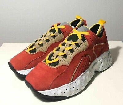 Brand-new Men's Acne Studios Red/Yellow/Green Rockaway Suede Sneakers in US 10